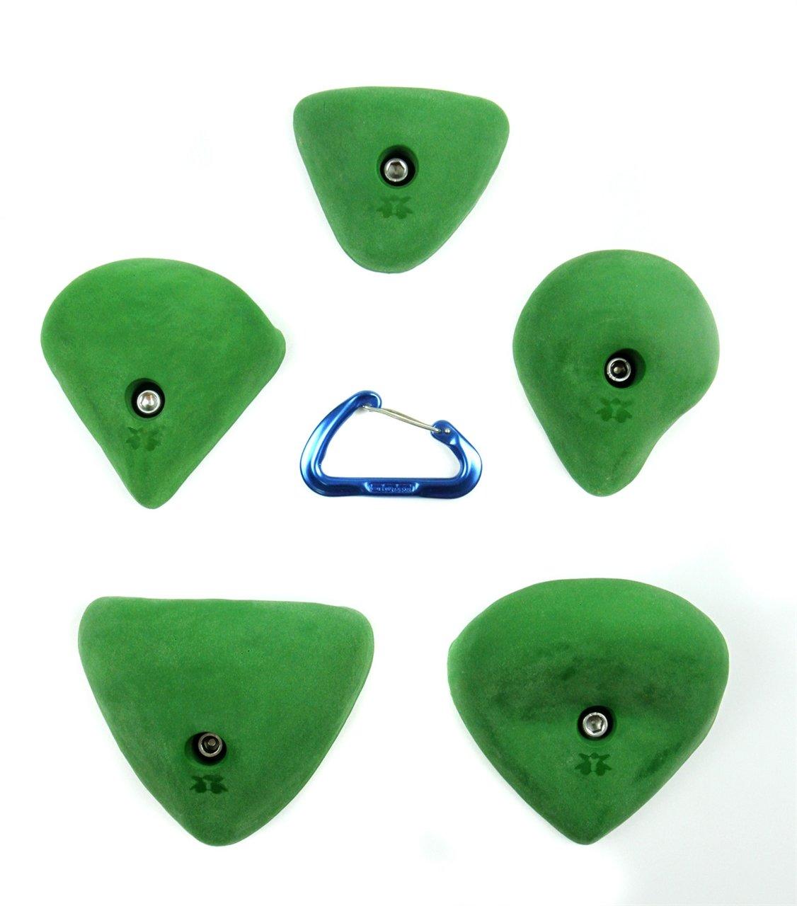 5 XL Yaniro Jugs by Atomik | Climbing Holds | Green