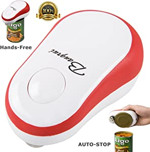 Home Kitchen Restaurant Mama Manual Automatic Safety Electric Can Opener:2019 Updated (Bangrui) Intellectual Electric Can Opener:Smooth Edge,Stop Automatically,a Good Helper in Cooking! (Red)