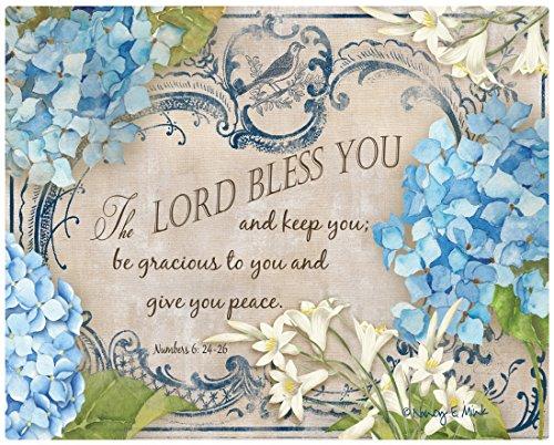 Magic Slice Hydrangea Bless You by Nancy Mink Non-Slip Flexible Cutting Board 12