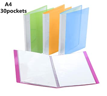 Display Folder A4 Display Book 30 Pockets Project Presentation Folder for Files