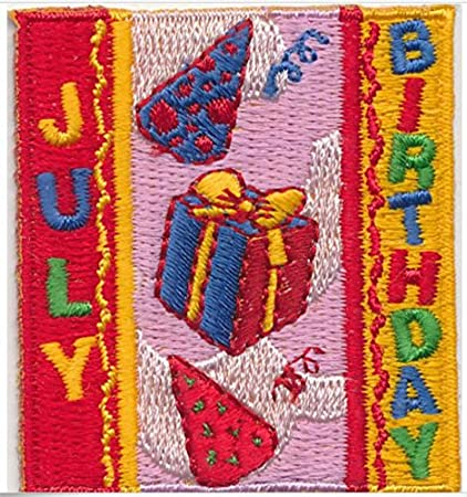 Girl Guiding Happy Birthday Iron on Embroidered Badge