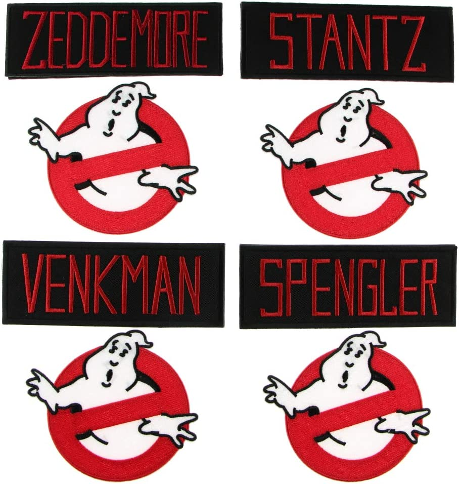 Inspired By Ghostbusters Embroidered Name Tag Cosplay Kitchen Apron MTCoffinz Geek culture