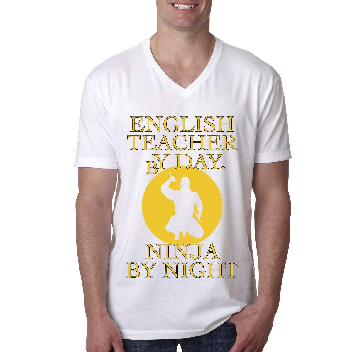 Divertido Profesor de inglés por día Ninja por Noche Cuello ...