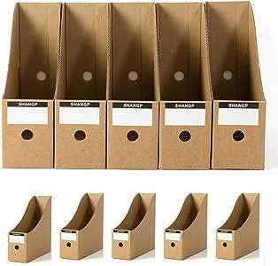 Organizador de archivos, revistas de cartón para escritorio, cajas ...