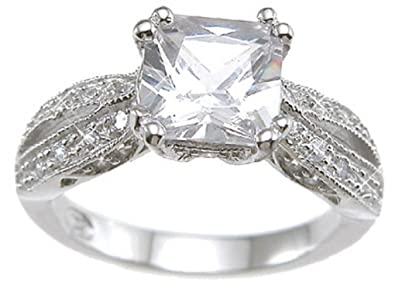 REALISTIC Vintage Style Sterling Silver Engagement Promise Rings for Women  (5) 2455584c2