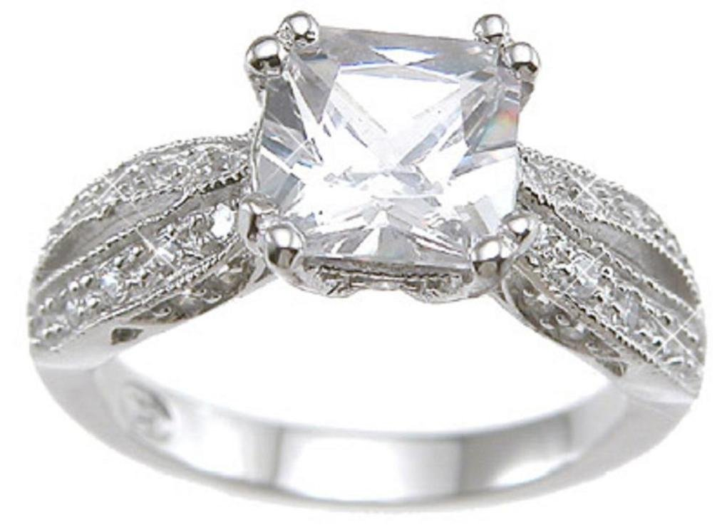 Vintage Style Sterling Silver Engagement Promise Rings for Women (7)