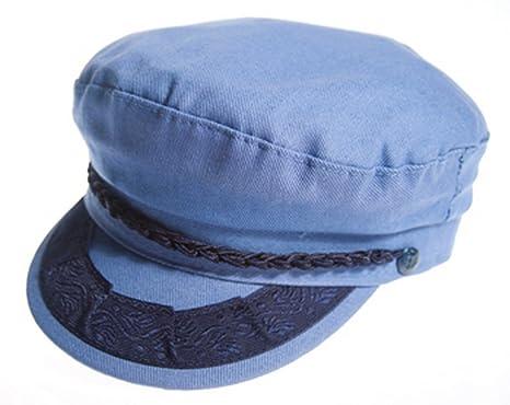 a2d73ad8b Amazon.com: Aegean Authentic Greek Fisherman's Cap - Cotton - Blue ...
