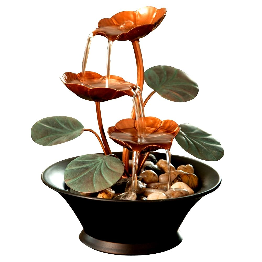 Indoor Lily Water Fountain Small Size Perfect Tabletop Decoration Compact Lightweight -Skroutz Deals