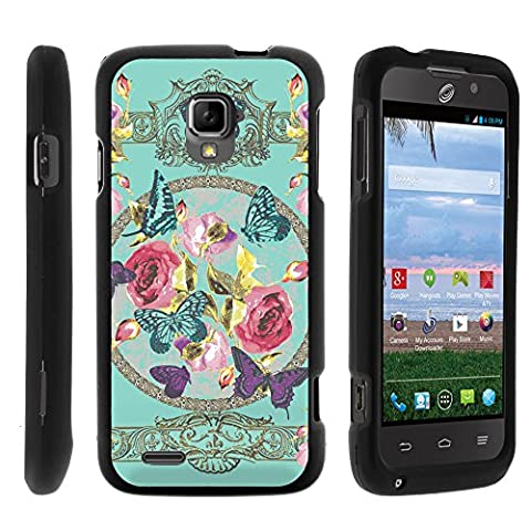 ZTE Rapido LTE Case, Perfect Fit Cell Phone Case Hard Cover with Cute Design Patterns for ZTE Rapido LTE Z932L from MINITURTLE - Royal Flowers and (Zte Rapido Phone Cases)