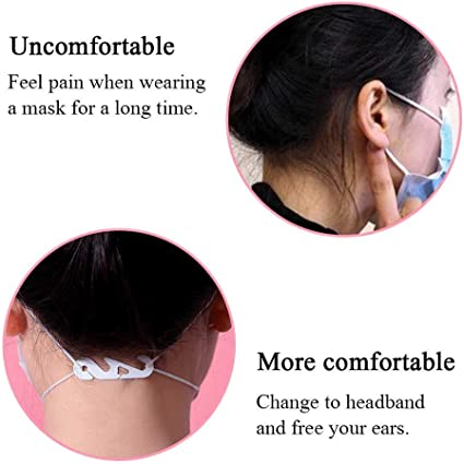 DIXIUZA Adjustable Month-Cover Hook Extension Prevent Earache Type 1 Ear Cord Extension Buckle Type 2