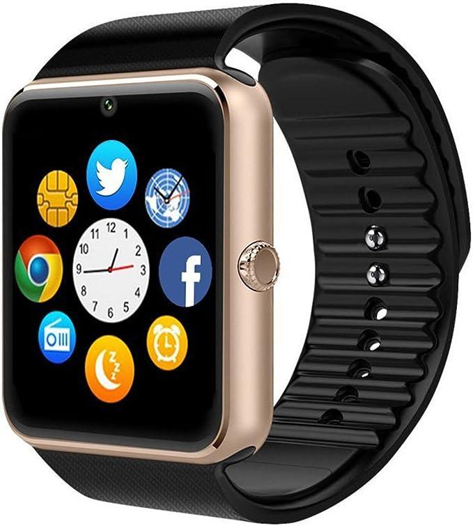 Bluetooth SmartWatch GT08 inteligente salud muñeca reloj teléfono ...