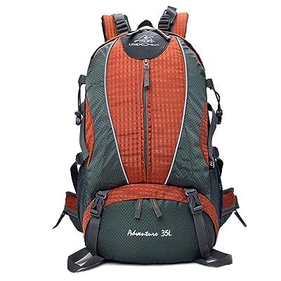 Sac d'alpinisme en plein air hommes et femmes randonnée sac à dos respirant sac à dos imperméable à l'eau voyage sac à dos de voyage (Couleur : Orange, taille : 30*19*50cm)