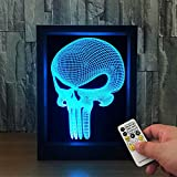 Bella House Lovely Visual 3D Photo Frame ILLusion Night Light 7 Colors Changing Table Desk Deco Lamp Bedroom Children Room Decorative Remote Control Nightlight Toy Gift Idea