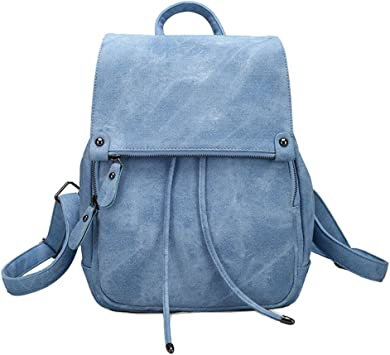 Damen Leder Rucksack Kleinen Umhängetasche Mädchen Schulrucksäcke Casual Daypack