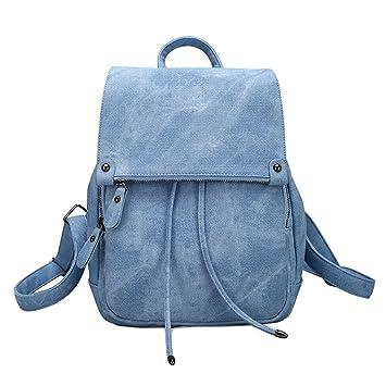 27759770e0753 Damen Kleinen Rucksack Umhängetasche Handtasche Mädchen Schulrucksäcke  Casual Daypack PU Leder Rucksäcke Reise Schultasche