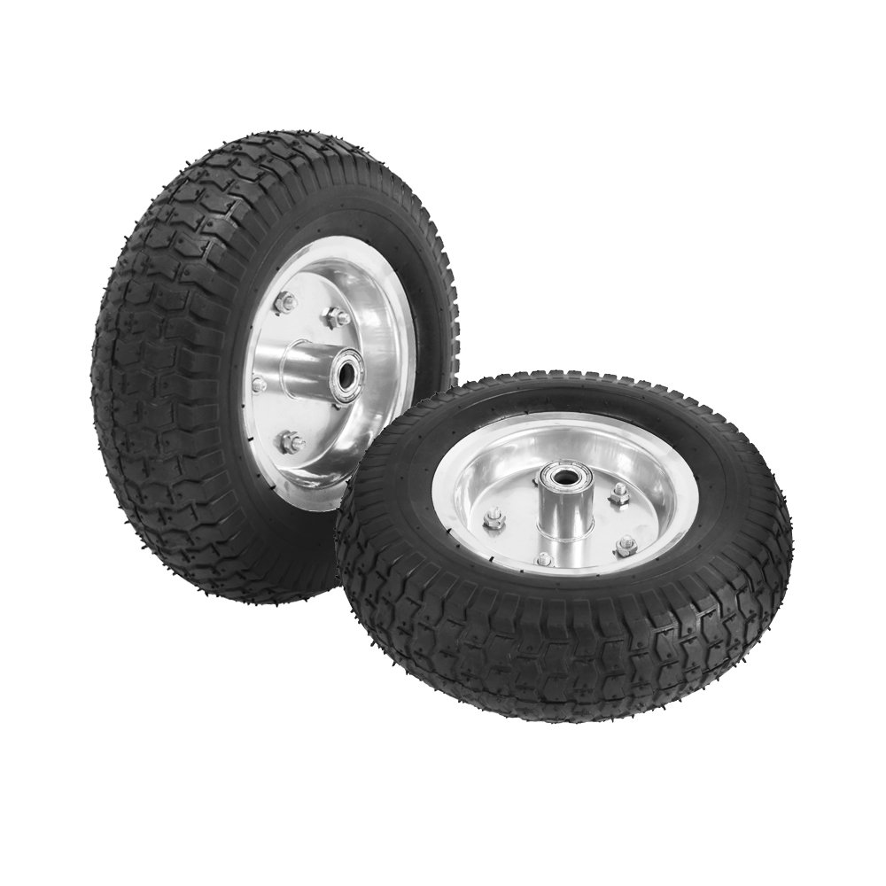 2 x 13' Pneumatic Tyre 13x5.00-6, Replacement Wheel for Sack Truck Hand Trolley Garden Cart Wheelbarrow, Black Targos
