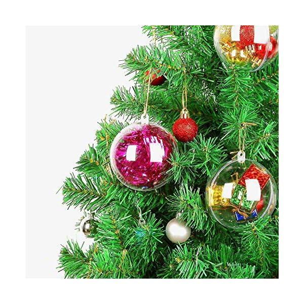 Okaytec Palline per Albero di Natale - Palle di Natale Trasparenti Come Addobbi Natalizi per Decorazioni Albero Natale - 20 pz (Diametro 6 cm) 7 spesavip
