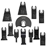 MagiDeal 12 Piece 10mm-90mm HSS Oscillating Saw Multifunction Tool For Woodworking