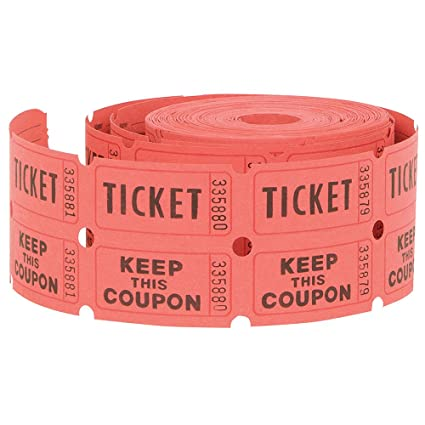 Unique Double Roll Of Raffle Tickets 500ct Colors May Vary Amazoncouk Kitchen Home