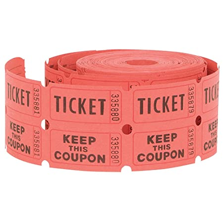 Unique Double Roll Of Raffle Tickets 500ct Colors May Vary