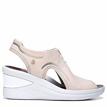 bzees naturalizer vinny tan gradient ribbed womens wedge sandals size 65m
