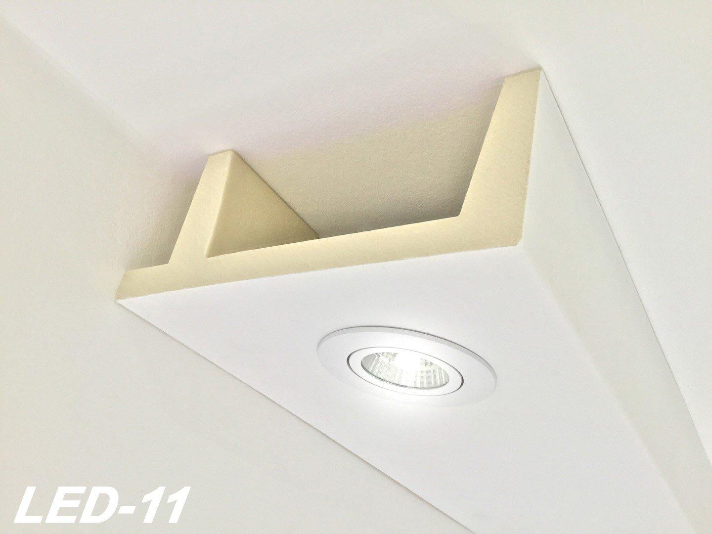 2 Meter PU Spots Kasten LED Leuchten Stuck Deckenprofil stoßfest ...