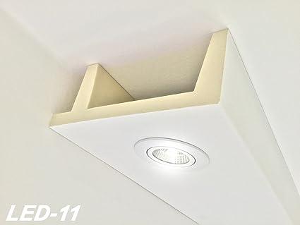2 metros de caja de poliuretano, luz LED, perfil para el techo, resistente