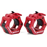 """POWER GUIDANCE Weightlifting Barbell Clamp Collar - Quick Release Pair of Locking 2"""" Olympic Bar - Great for Cross Fitness Training - Lifetime Warranty -"""