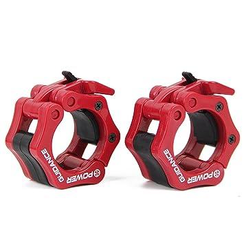 POWER GUIDANCE Barra de pesas olímpico Barra abrazadera ABS Control collares Gran Cruz de la aptitud
