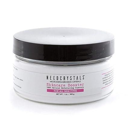 Cristales de microdermoabrasión de NeedCrystals, exfoliación facial. Exfoliante facial natural para pieles apagadas o