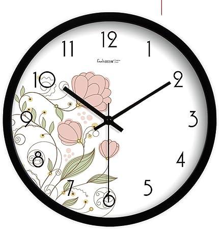 YYL Relojes De Pared Silencioso Europeo,Tabla De Reloj De Jardín,Moda Salón Creativos Afiches-C 10pulgada: Amazon.es: Hogar
