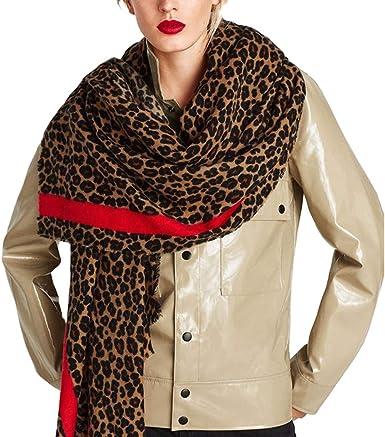 Women Scarf Red Brown Winter Pashmina Fashion Scarfs for Ladies Striped Long