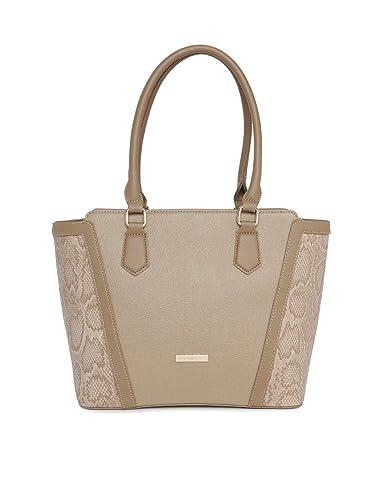 Addons Womens PU Tote Bag (Beige)