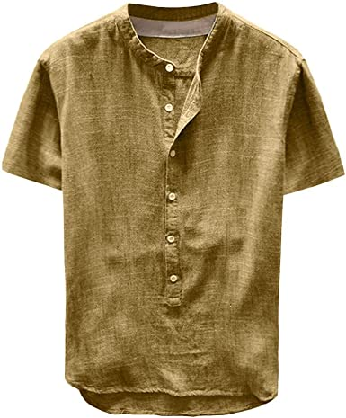Camisa Hombre Blusa Suelta Casual Transpirable Camisas Slim fit ...