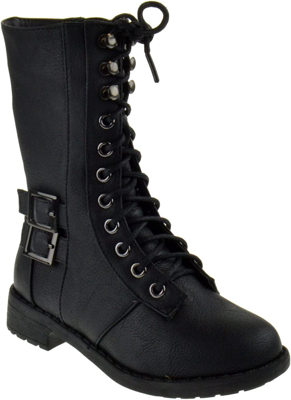 black lace up boots girls