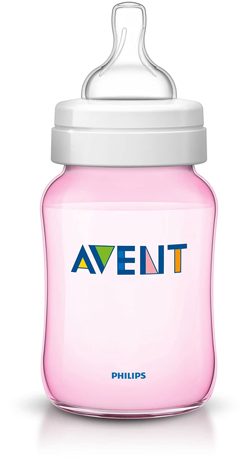 Pink Avent Bottle 260 ml Teat 1m Colour Special Edition