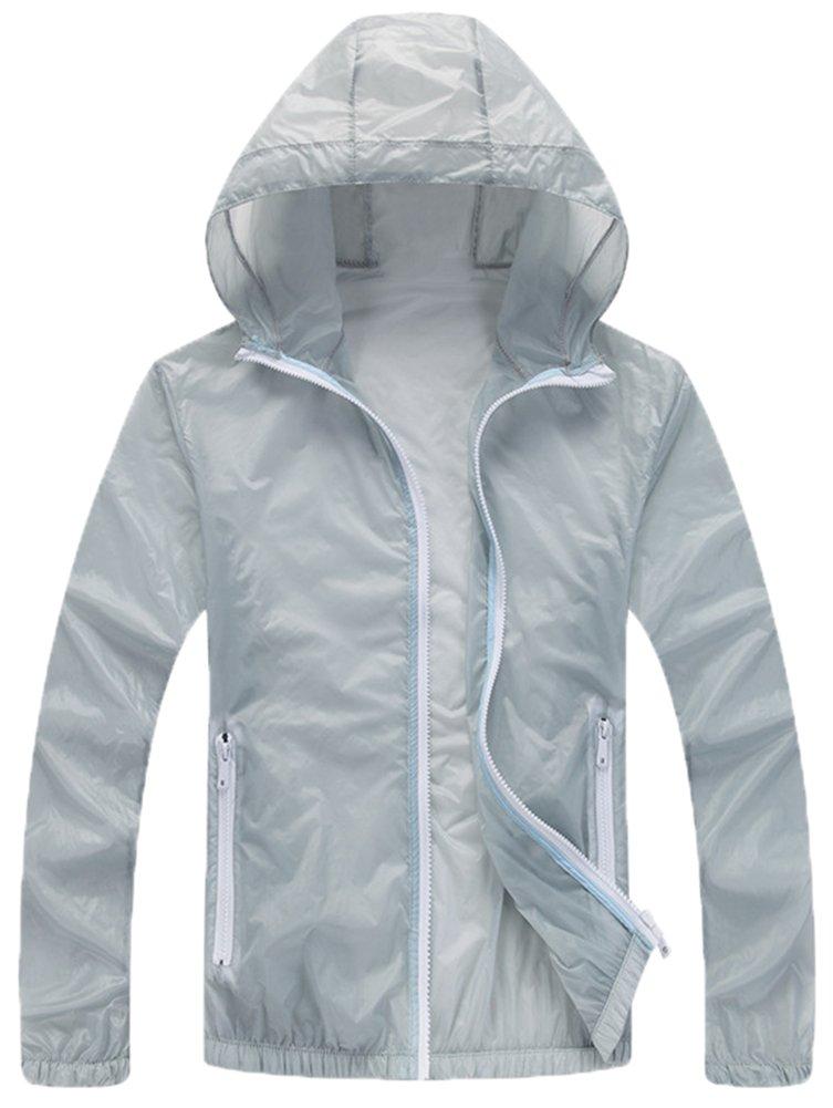 Mochoose Donna Super Leggero Giacca con Cappuccio Asciutta Rapida Esterna Windbreaker Respirabile UV Cmpermeabile Proteggere la Pelle Coat