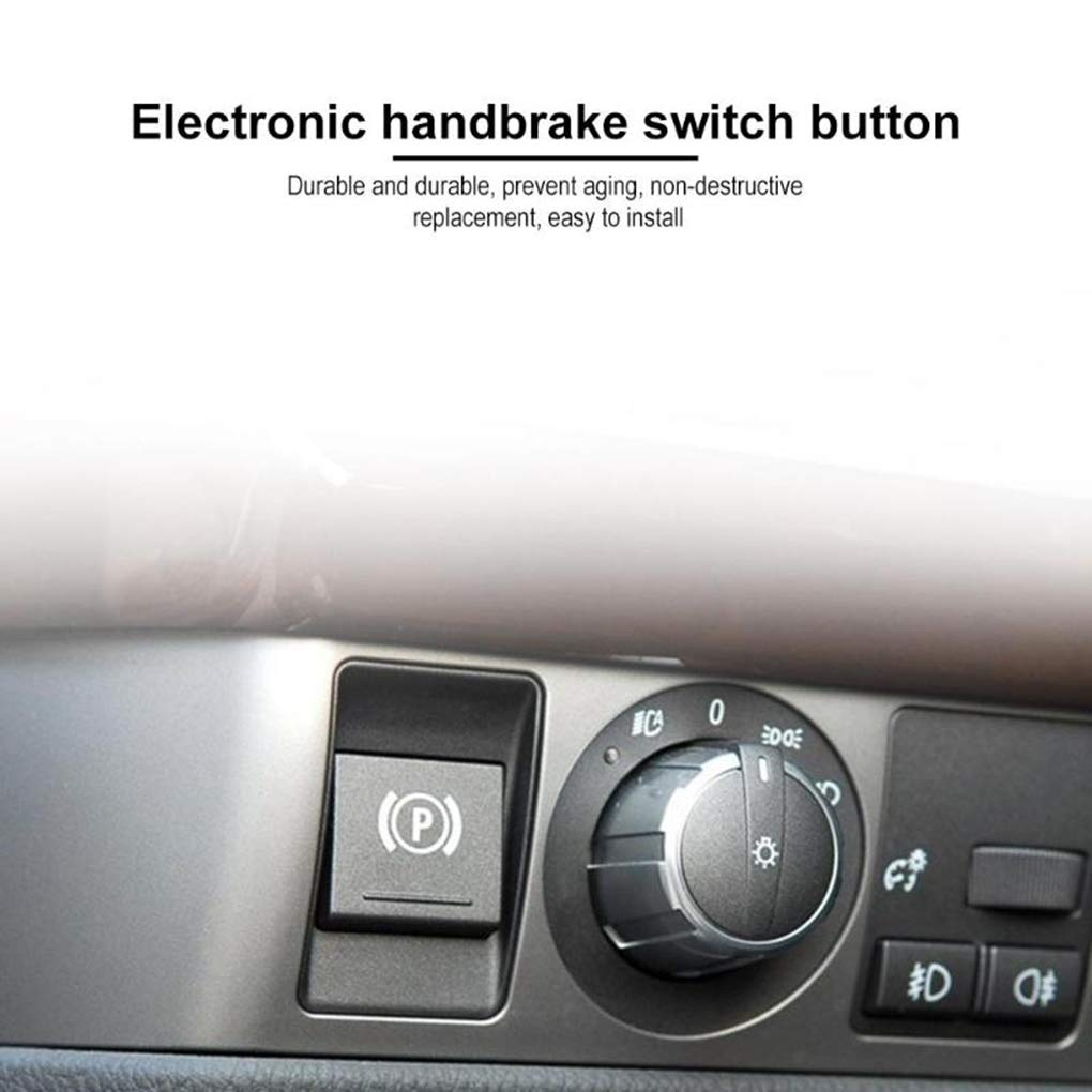 LEVEL GREAT Freno de estacionamiento Freno de Mano P Interruptor de bot/ón de la Cubierta del reemplazo para BMW Serie 7 E66 E65 2004-2008