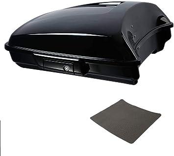 TCMT 5.5 Razor Pack Trunk W//Black Latch Backrest Pad Fit For Harley Touring Road King FLHR Street Glide FLHX Road Electra Glide 2014-2020