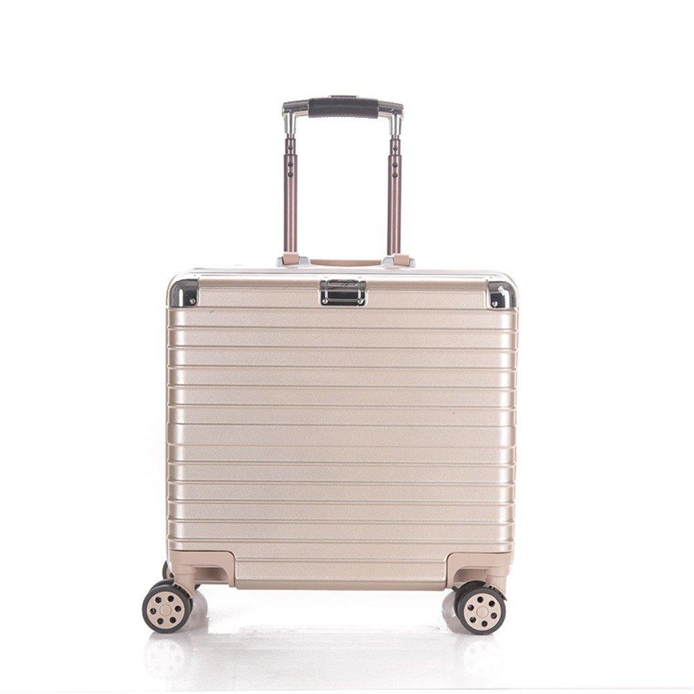 荷物ケース, スーツケース, 18インチアルミフレーム引きロッドボックスユニバーサルホイール搭乗荷物の荷物ギフト卸売トラベルボックス 荷物エアボックススーツケース B07TV9V93S