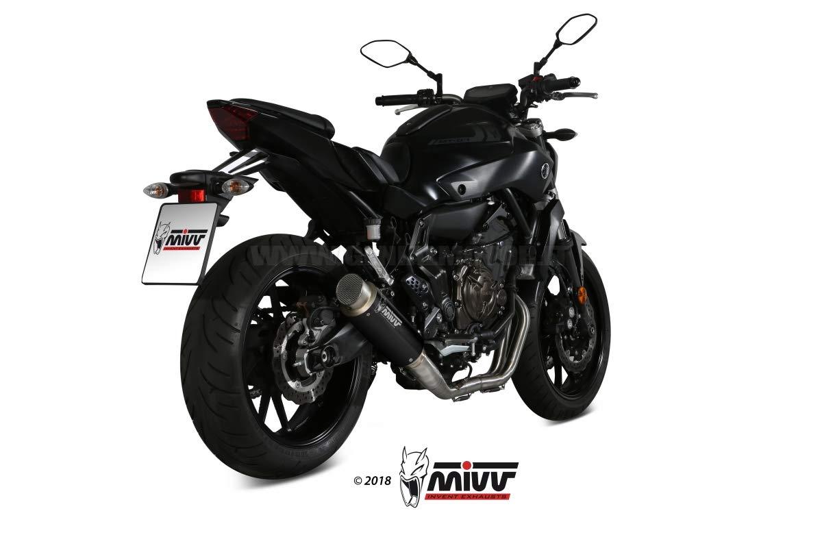 Mivv Scarico Completo 2x1 YAMAHA MT-07 2014  GPpro STEEL BLACK ALTO//High up
