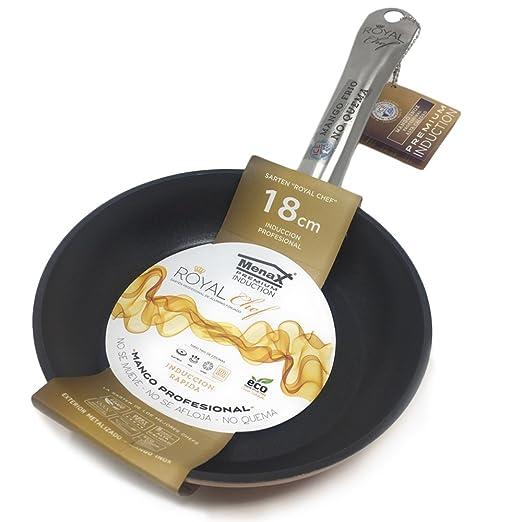 Durchmesser 18 Rochal Chef Professionelle Pfanne aus Geschmiedetem Aluminium 22 und 26 cm Premium-Antihaftbeschichtung Set von 3 Stück