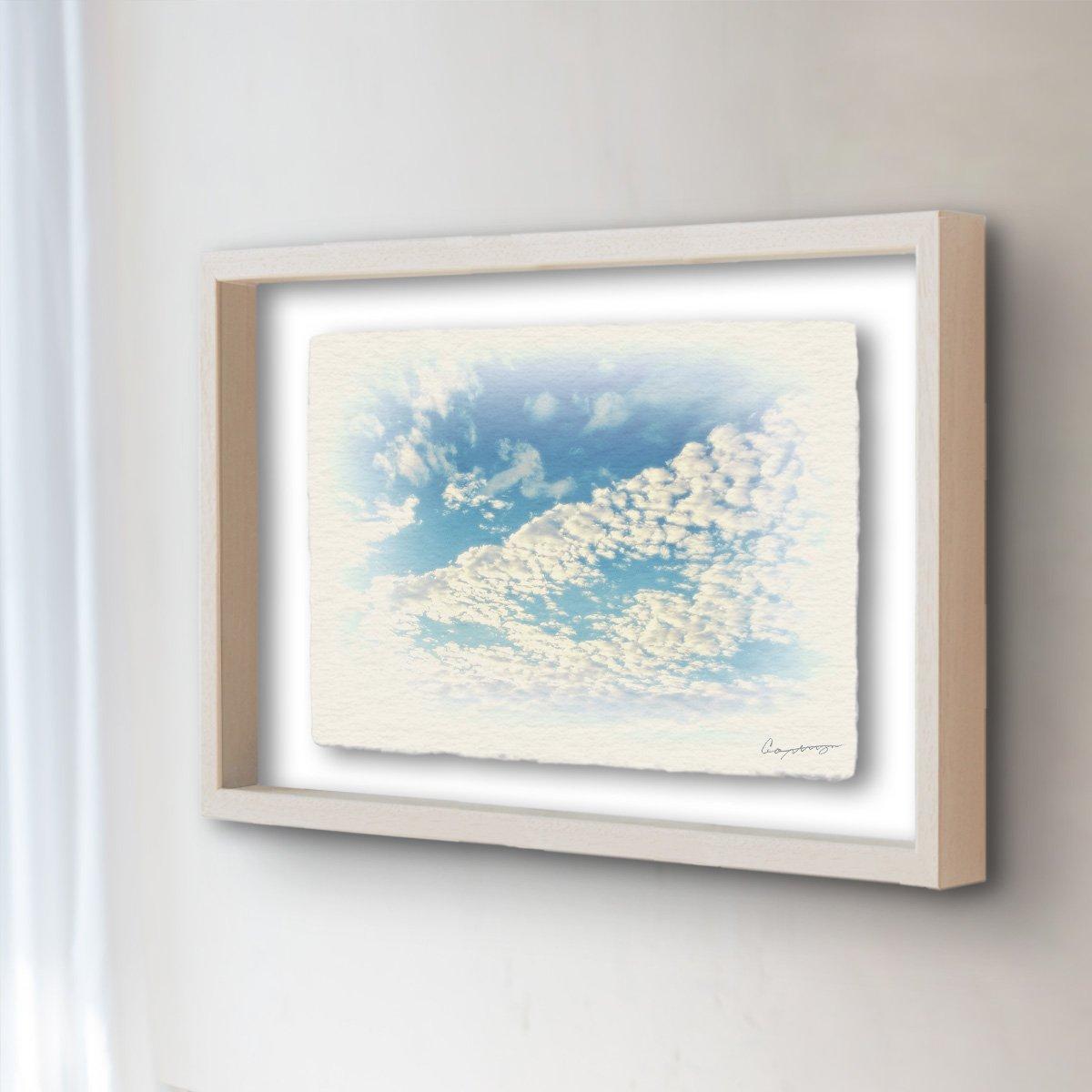 和紙 アートフレーム 「青空に輝くうろこ雲」 (83x64cm) 絵 絵画 壁掛け 壁飾り 額縁 インテリア アート B074XJYP6P 26.アートフレーム(長辺83cm) 240000円|青空に輝くうろこ雲 青空に輝くうろこ雲 26.アートフレーム(長辺83cm) 240000円