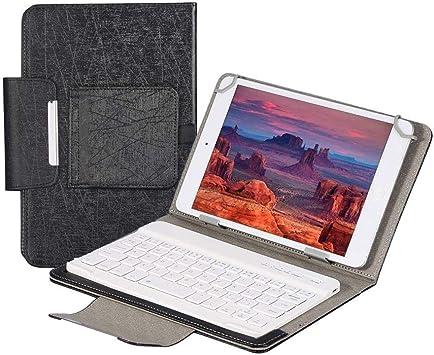 Eboxer 7 Pulgadas Funda Protectora de PU con Teclado Bluetooth Inalámbrico para Tableta con Soporte para iPad mini2 3. 4 / Galaxy Tab4 T230 / ...