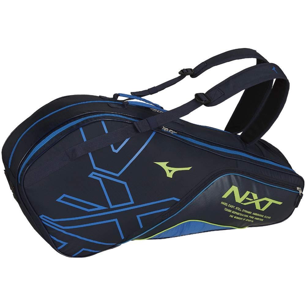 ミズノ(MIZUNO) 硬式ソフトテニス/バドミントン ラケットバッグ(6本入れ) 63JD9004 B07JY4GJ5X 82:ネイビー×サックス