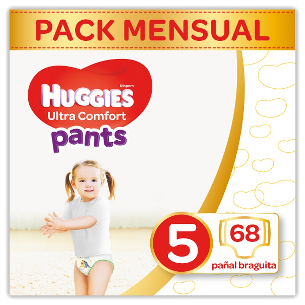Huggies Ultra Comfort Pañales Braguita Talla 5 (12-17 Kg) - 68 Pañales: Amazon.es: Amazon Pantry