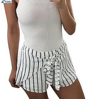 Familizo Femmes Pantalon à Rayures 742da201921