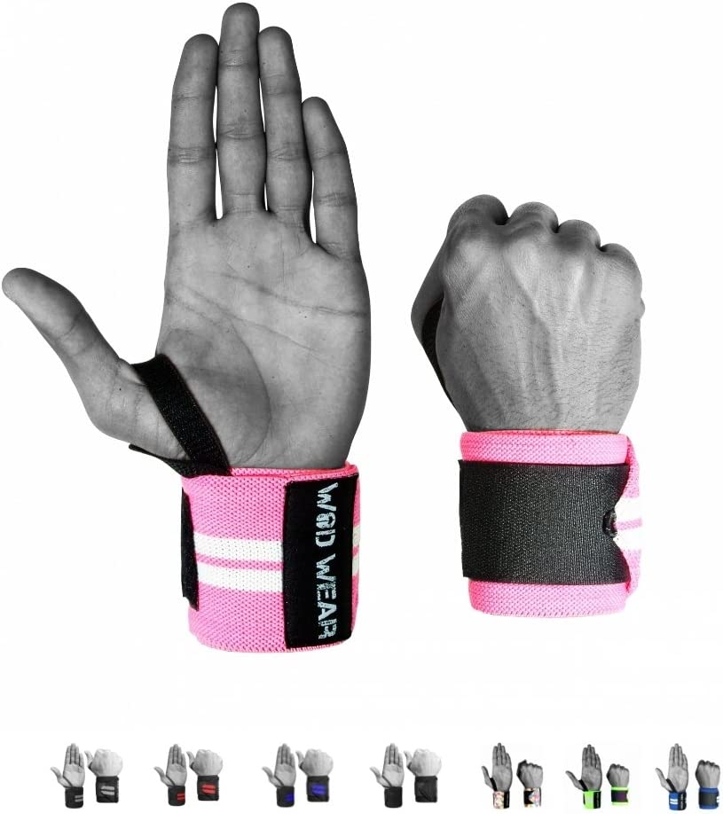 Weight Lifting Professional Fitness Elastic 18 Inch Pair of Two for Powerlifting Bodybuilding Wrist Wraps Cross-Training Wrist Supports for Weight Training