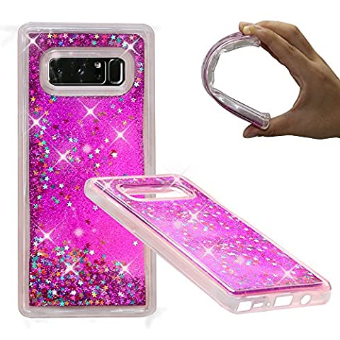 Samsung Galaxy Note 8 Case, NOKEA Soft TPU Flowing Liquid Floating Luxury Bling Glitter Sparkle Case Cover Fashion Design for Samsung Galaxy Note 8 (Pink Camo Otterbox Iphone 4s Case)