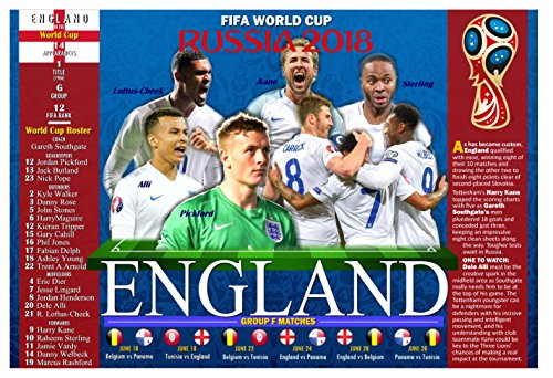 PosterWarehouse2017 ENGLAND'S 2018 WORLD CUP SOCCER TEAM COMMEMORATIVE - Cup Soccer World Pictures
